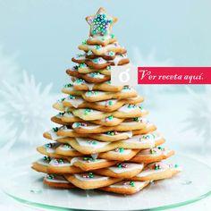 Galletas de arbol de navidad