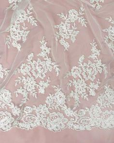 Beaded Chantilly Lace | Ivory | Truro Fabrics