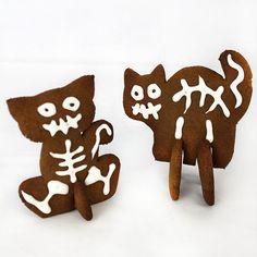 3D Cat Gingerbread cookie Template Digital PDF File.  FREE PDF DOWNLOAD