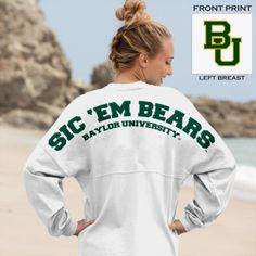 Sic 'Em Bears Baylor University Classic Unisex Long Sleeve Spirit Football Jersey