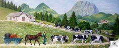Cliquez pour agrandir Swiss Switzerland, Farm Pictures, Art Populaire, My Heritage, Mixed Media Art, Folk Art, Dolores Park, Germany, Europe