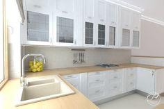Dom w stylu klasycznym  Komfortowa, funkcjonalna kuchnia. Classical kitchen. Progetti Architektura