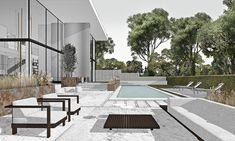 Architecture Collage, Interior Architecture, House Landscape, Landscape Design, Brosure Design, Sketchup Rendering, Sketchup Models, Interior Presentation, Interior Design Renderings