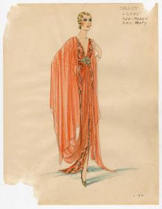 Bergdorf Goodman sketche. Metropolitan Museum of Art (New York, N.Y.). Costume Institute. Bergdorf Goodman sketches, 1929-1952 Costume Institute |  The way we dress is the way we think.