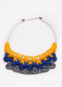 Tribal Belle Necklace  rope necklace macrame by CleopatraJMacrame