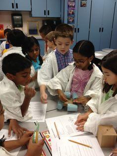 kids in lab coats elem