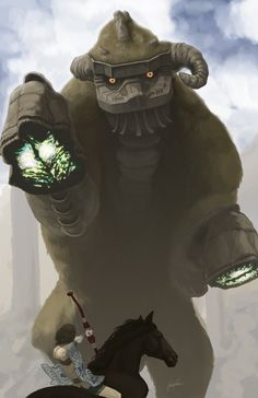 Shadow of the Colossus -   I'm going to shoot you in your hoof with my little bow and arrow. . Before you STOMP me . .
