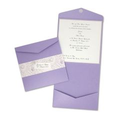 Board: Pearlised Amethyst / Layer Card: Pearlised Lavender / Insert: Pearlised White / Pattern: Belly Band / Wrap - Vintage Rose Plum Paper ...