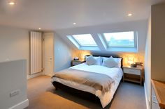 upper level of split loft conversion More