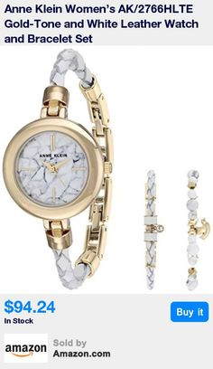 Mineral crystal lens; white patterned dial with gold-tone hands and markers; white braided leather bracelet with adjustable end links; jewelry clasp and two extenders * Set includes: one Swarovski crystal accented leather braided bracelet with jewelry clasp; one how lite beaded charm bracelet with lobster closure * Japanese-quartz Movement * Case Diameter: 28mm * Water resistant to 30m (100ft): in general, withstands splashes or brief immersion in water, but not suitable for swimming or bath