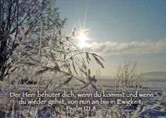christliche Postkarte 13 - Psalm 121, Winter - Bibel a la Carte - Christliche Karten