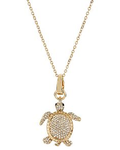 3 WAYS PAVE TURTLE PENDANT MULTI accessories jewelry necklaces fashion