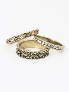 Altar'd State Stackable Gemmed Ring Set