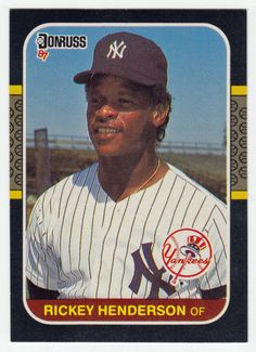 Rickey Henderson # 228 - 1987 Donruss Baseball