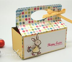 This is such a clever alternate use for the PNC Base! Stampin' Up! Stamping T! - Easter Pop 'n Cuts Treat Box