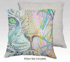 Bubble Gum Tiger Pillow Covers #tigers #white #art #pillows #home #decor #couch