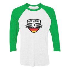 99d7b1e75 Germany Soccer Team Deutschland Fans 3 4 Women Sleeve Baseball Jersey Shirt