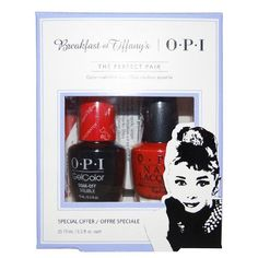 OPI Breakfast at Tiffany's Collection Holiday 2016 GelColor Gel Polish + Nail Lacquer Duo #2