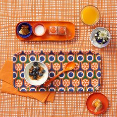 Hokolo Birch Tray - Blueberries and Oranges