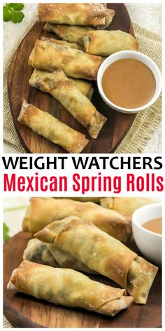 Weight Watchers Mexican Spring Rolls are flavorful tasty snacks and only have 1 Freestyle SmartPoint per spring roll. Perfect for dinner or an appetizer. ww weightwatchers wwfreestyle appetizers MexicanFood via 834573374677028625 Weight Watchers Appetizers, Weight Watchers Diet, Weight Watcher Dinners, Weight Loss Meals, Weight Watchers Lunches, Air Fryer Recipes Weight Watchers, Weight Warchers, Weight Watchers Vegetarian, Weight Watcher Smoothies