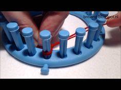 Steken opzetten op een breiring of breiraam (E-opzet)
