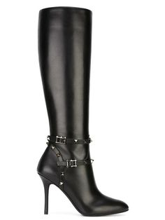 Valentino Rockstud Noir Double Harness Black 38(EU) NWT Boots. Get the must-have…