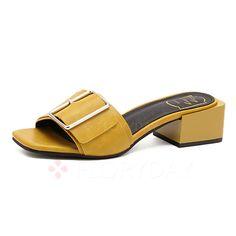 Shoes - $40.62 - Women's Sandals Flip-Flops Chunky Heel Leatherette Shoes…