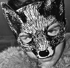 Me wearing Mulberry fox mask