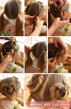 And this heart-shaped 'do is so easy to love. | 17 Cute And Easy Hairstyles For Kids