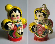 Chernobyl-themed matryoshka dolls.