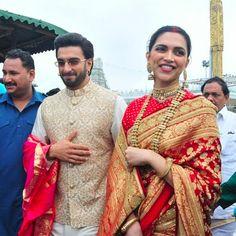 Its been a year of togetherness for Deepika Padukone and Ranveer Singh.DeepVeer tied the knot Deepika Ranveer, Deepika Padukone Style, Ranveer Singh, Aishwarya Rai, Designer Sarees Wedding, Saree Wedding, Indian Groom Wear, Indian Wear, Indian Dresses