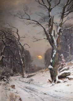 Wilhelm Schröter~untitled_-winter_landscape-_--1889