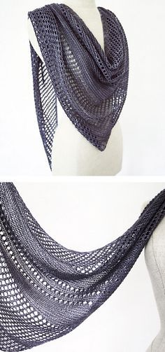 Knitting Patterns Ravelry Ravelry: Antarktis shawl in Kettle Yarn Co. Islington – knitting pattern by Janina Kallio. Summer Knitting, Lace Knitting, Knitting Stitches, Knitting Patterns, Knitted Shawls, Crochet Scarves, Knitting Scarves, Knit Or Crochet, Crochet Shawl