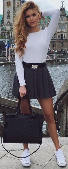 #summer #trendy #outfits  | Black and White