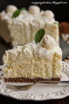 my passions: coconut cheesecake Sweet Recipes, Cake Recipes, Dessert Recipes, Cake Cookies, Cupcake Cakes, Delicious Desserts, Yummy Food, Polish Recipes, Sweet Cakes