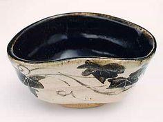 黒織部抹茶茶碗