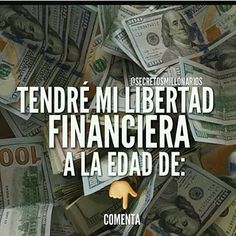 #secretosmillonarios A que edad te vas a retirar?  #luxury #exito #motivation #libertadfinanciera #emprendedor #colombia #repost #2016 #metas #frases #empresario #money #millonarios #mentesmillonarias