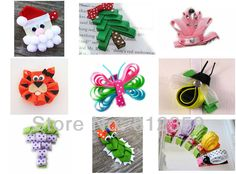 DIY Baby christmas ribbon Hair Clips | Bow Ribbon Christmas Tree Art Hair Clip Pictures