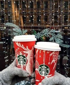Image de starbucks, christmas, and winter
