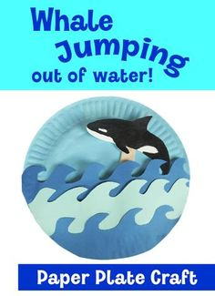 In this fun arts and crafts video, kids learn how to make a whale that can jump out of water! Kindergarten Art Activities, Preschool Crafts, Activities For Kids, Montessori Preschool, Animal Activities, Kid Crafts, Easy Crafts, Animal Crafts For Kids, Toddler Crafts