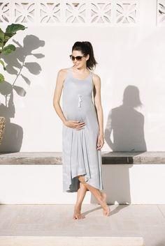 Josie Summer Maxi Maternity Dress (Sea Blue) – Maive