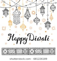 Traditional hanging lamp in Doodle style and pattern border,background. Diwali Cards, Diwali Greetings, Doodle Quotes, Doodle Art, Mandala Drawing, Mandala Art, Diwali Drawing, Bullet Journal Month, Festival Background