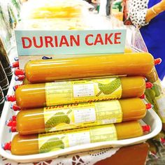 Thailand's Vegan Food Diary #45: Durian Paste Candy 🍭  Confused by the sign? Don't worry, I am, too. 😂 but on the bright side, it did grab my attention. If you have had this treat before, you'd know that it is definitely not a cake.  Thai people, like most people from all over the world, have ways to preserve fresh produce by turning them into something else entirely different. Making 'Turian Guan' or Durian Paste Candy is just one of the things Thai people choose to do with durians to…