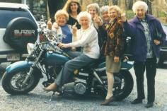 Old School In This Picture: Photo of grandmas giving the finger