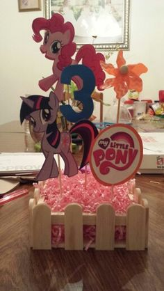 DIY My Little Pony Centerpiece #centerpiece #mylittleponyparty…