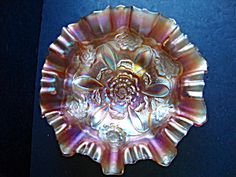 Bowl, Marigold Carnival Glass