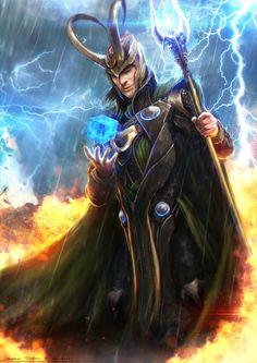 Loki - Avengers by ~rhinoting http://rhinoting.deviantart.com/art/Loki-Avengers-300332965
