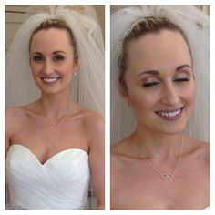 Bridal hair and makeup by Stephanie in Surrey and West Sussex. Blonde Audrey Hepburn Hair www.stephaniedorelli.com Nonsuch Mansion Bride