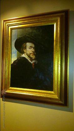 retrato de rubens firmado por lozano. oleo sobre table