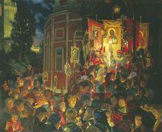 "Painting: Yulia Kuzenkova's ""Easter"" - and The Paschal Homily of St. John Chrysostym"